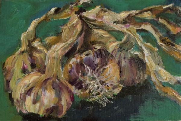Bunch of Garlic, 20x30cm